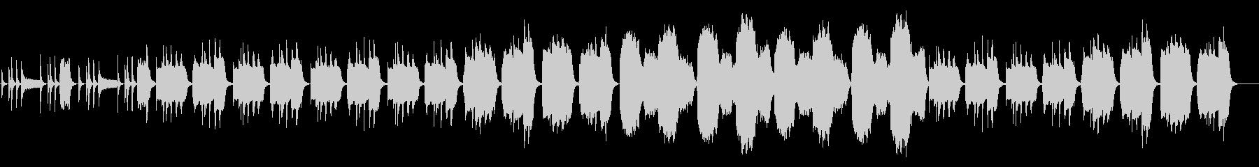 ゆったり、ほのぼの、少しマヌケなBGMの未再生の波形