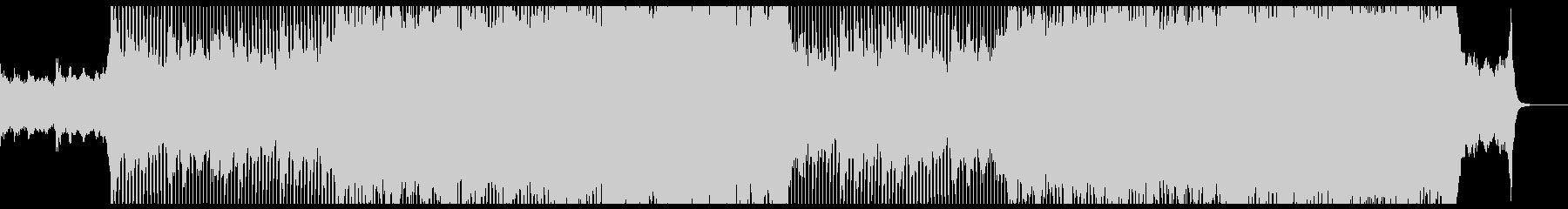 希望を感じる前向きなピアノロックBGMの未再生の波形