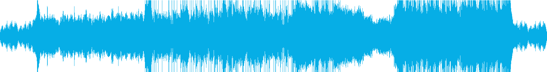 緊迫感のあるダンジョン(ループ版)の再生済みの波形