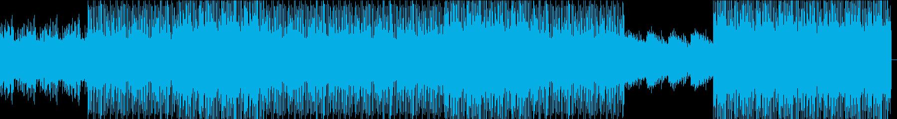 シンセ音が気持ちよいダンストラックですの再生済みの波形