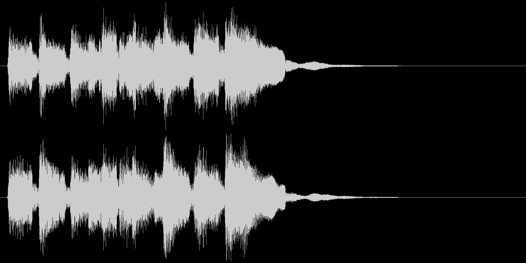 ウキウキ系のキュートな場面転換ジングルの未再生の波形