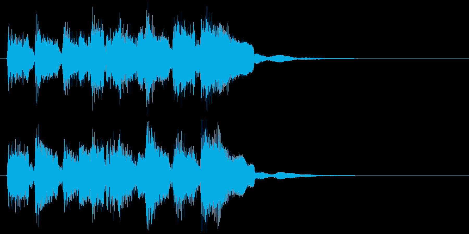 ウキウキ系のキュートな場面転換ジングルの再生済みの波形