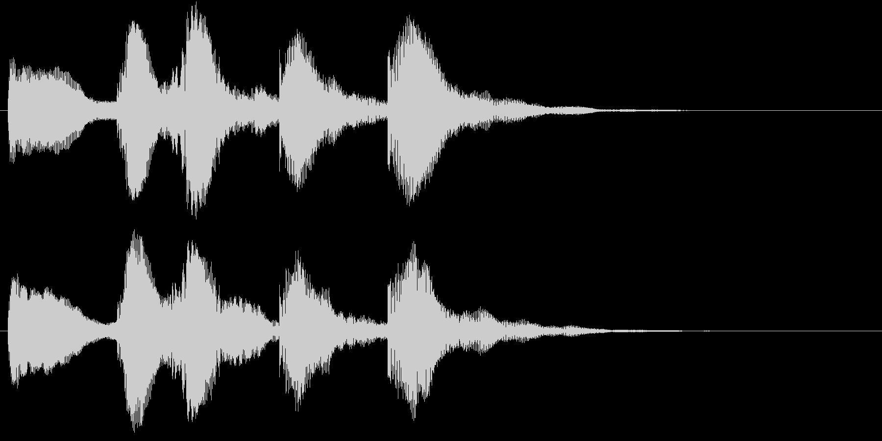 ティントティティトンの未再生の波形