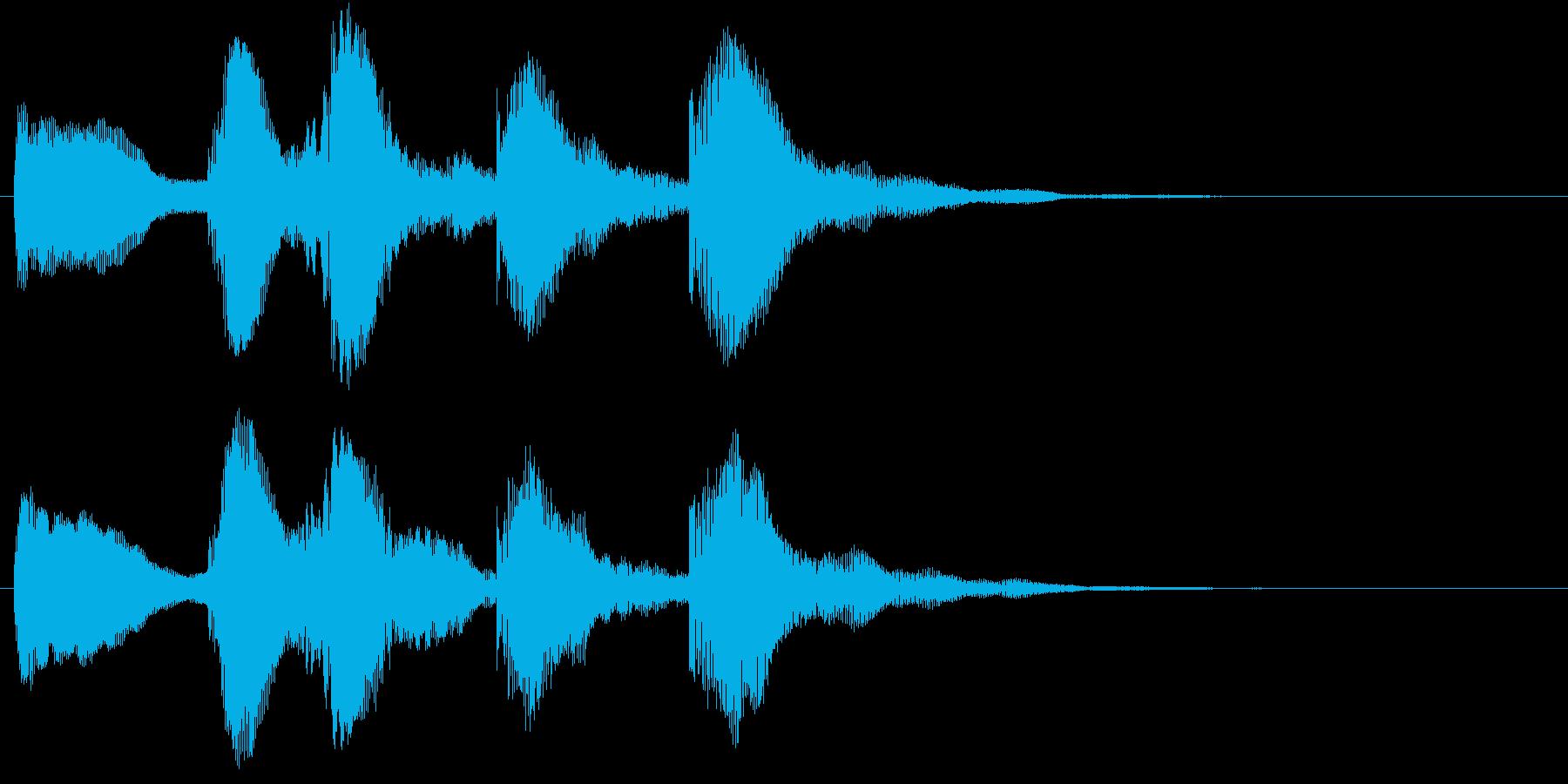 ティントティティトンの再生済みの波形