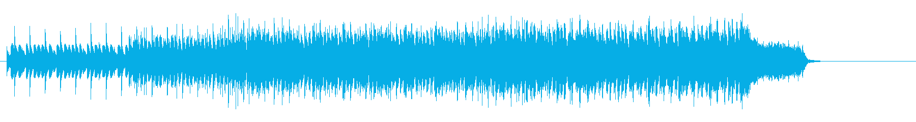 不思議なうねりを持った、せり上がるBGMの再生済みの波形