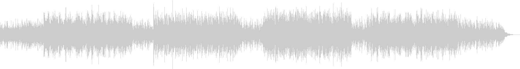 ピアノがメインでビート感のあるサウンドの未再生の波形