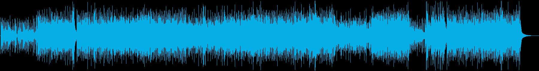 和風、三味線メタル2、激しい(声なし)aの再生済みの波形