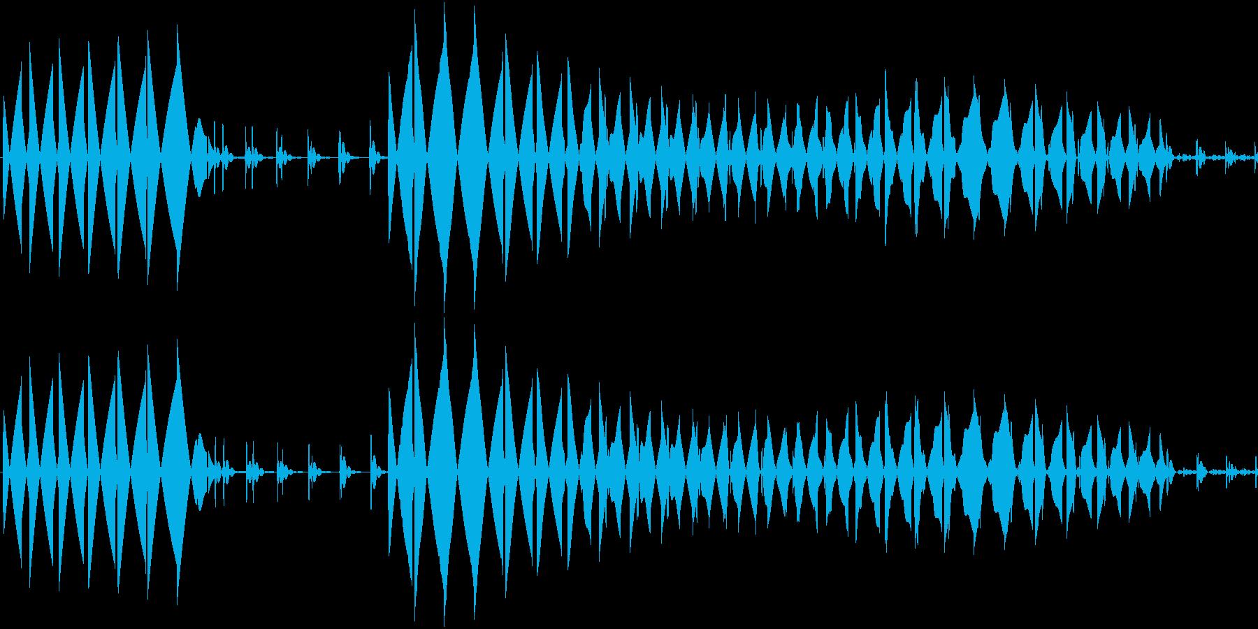 エラー音の再生済みの波形