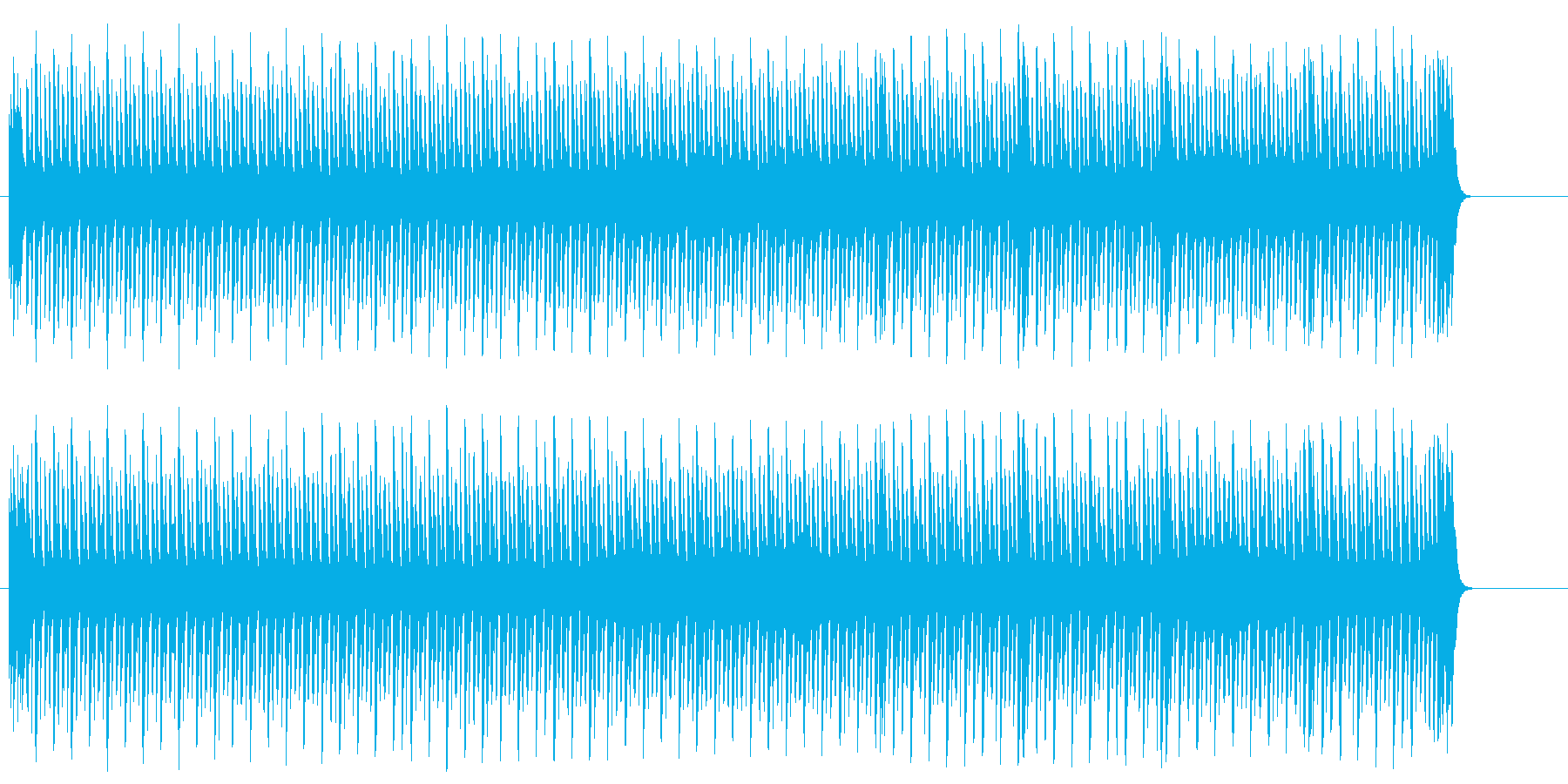 機械的なテクノ風ポップの再生済みの波形