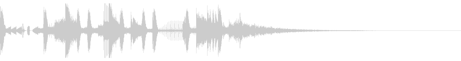 140 BPMの未再生の波形