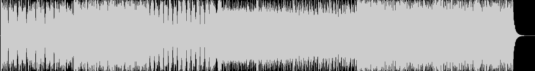 疾走感のあるハードロックの未再生の波形