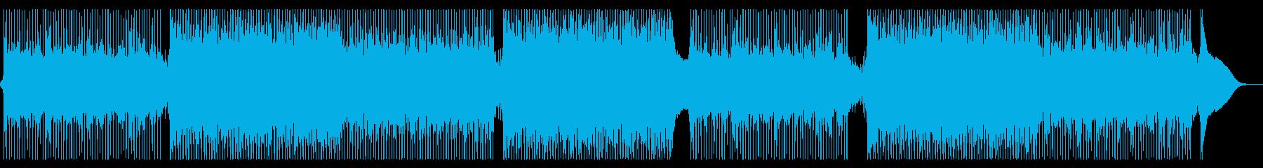 クリーンで前向きコーポレート系(声無し)の再生済みの波形