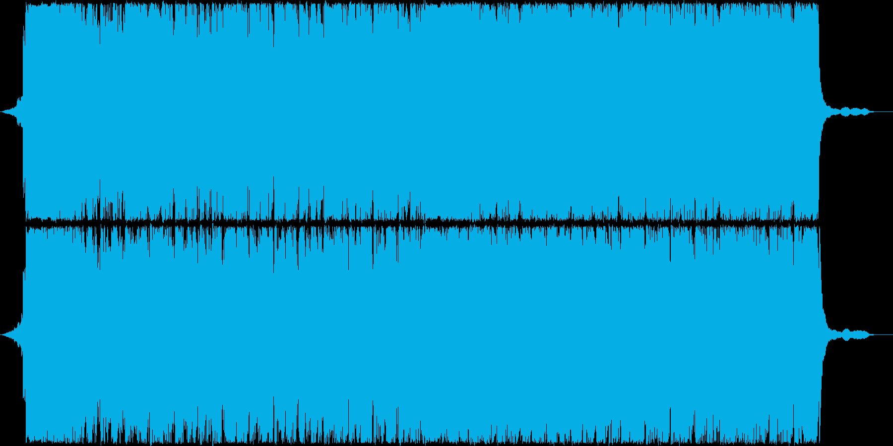 大河ドラマのオープニングのような曲の再生済みの波形