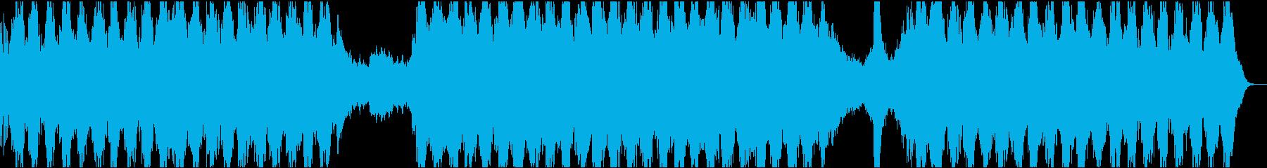 緊張感あるダークなテクスチャドローンの再生済みの波形