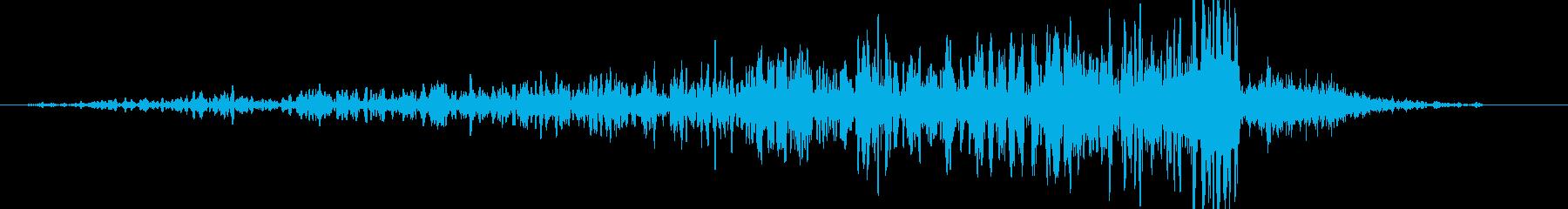 逆ランブルヒューシュインの再生済みの波形