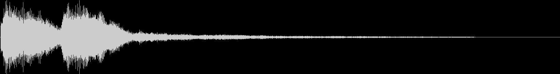 KANTクイズの時のジングル7の未再生の波形