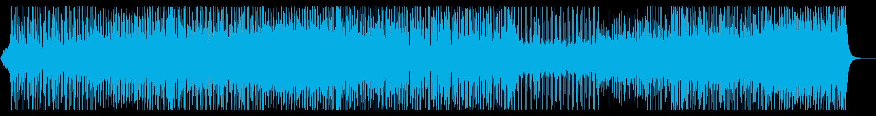 三味線がリードする4つ打ちダンス曲の再生済みの波形