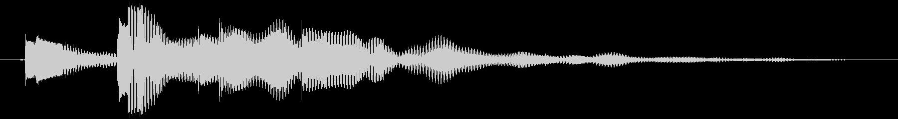 決定音 柔らかめの未再生の波形