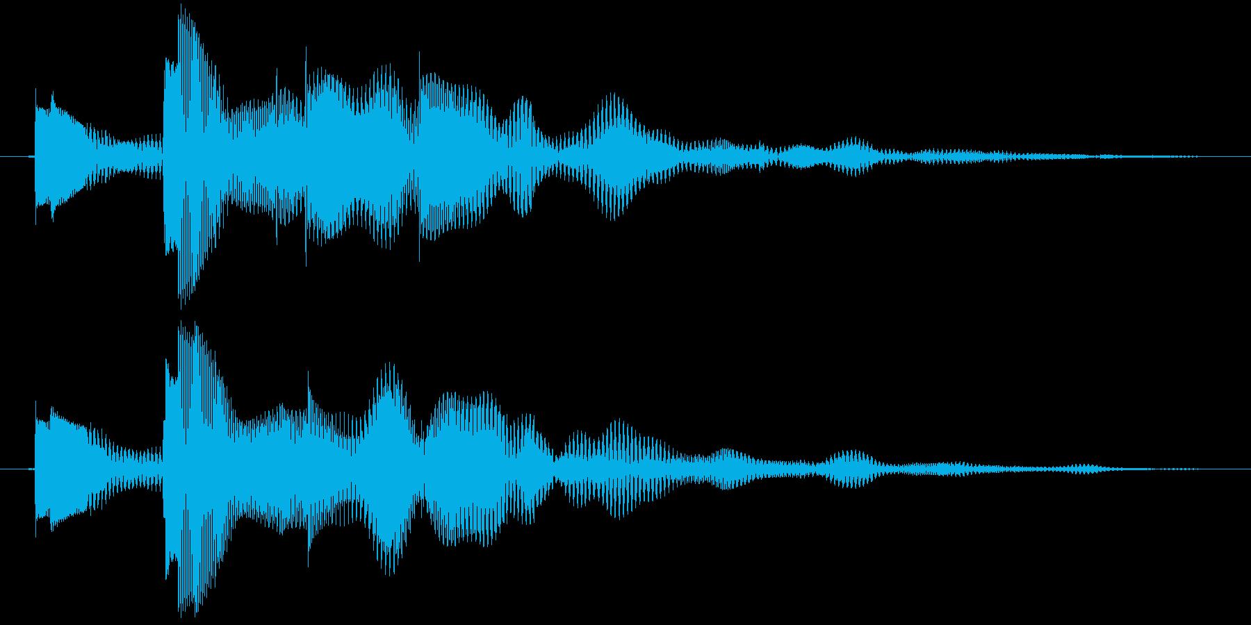 決定音 柔らかめの再生済みの波形