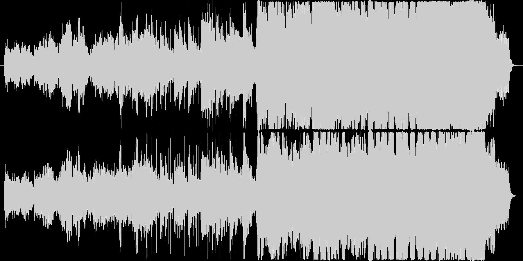 尺八と琴によるしっとり和風音楽の未再生の波形