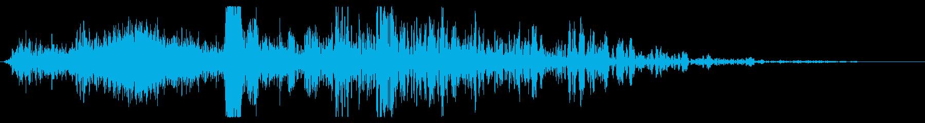 スモールメテオ:ライトインパクトス...の再生済みの波形