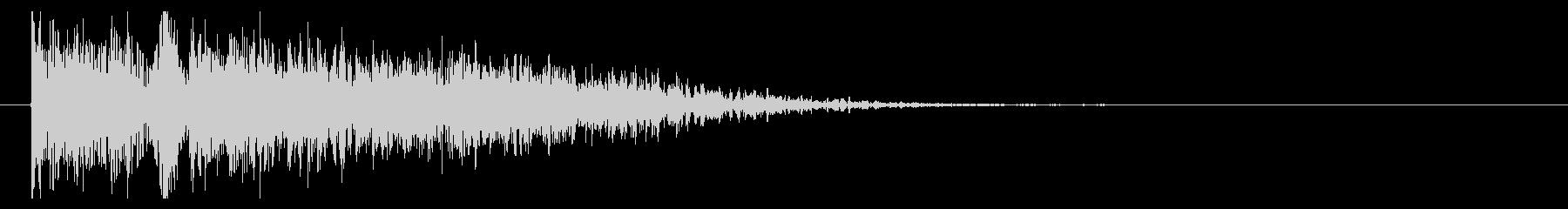 爆弾 ランブルクローズ03の未再生の波形