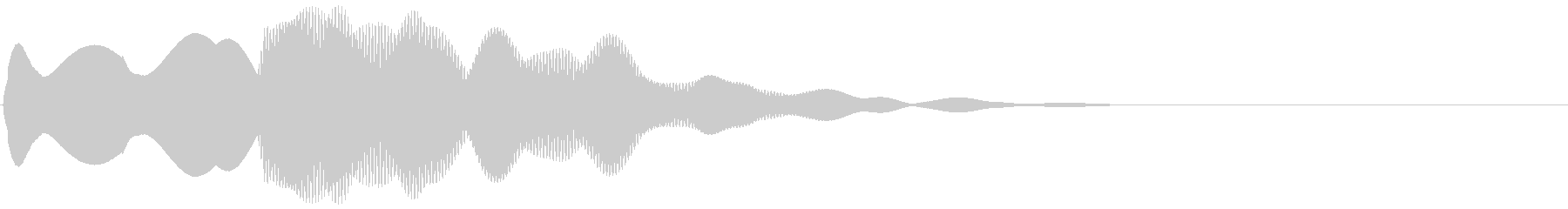 エレベーター下降風の到着音(ピンポーン)の未再生の波形