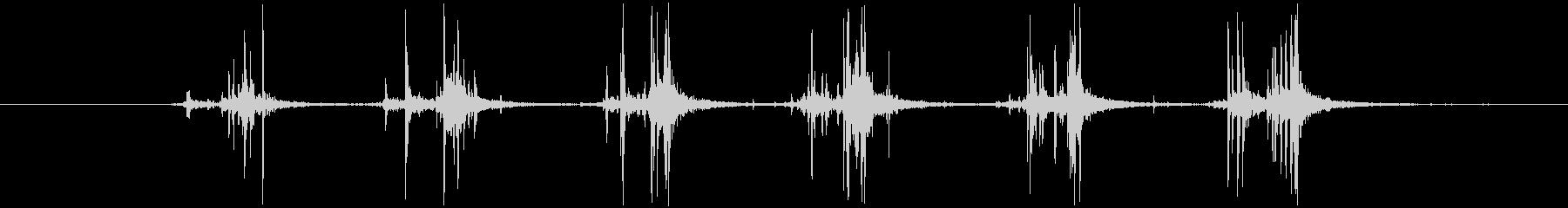 シャカシャカ(振る音)1の未再生の波形