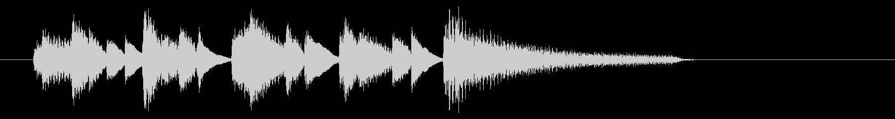 ジャズピアノの軽快なジングルC2の未再生の波形