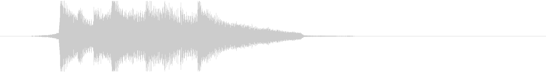 ウクレレとアコギの温かみのあるジングルの未再生の波形