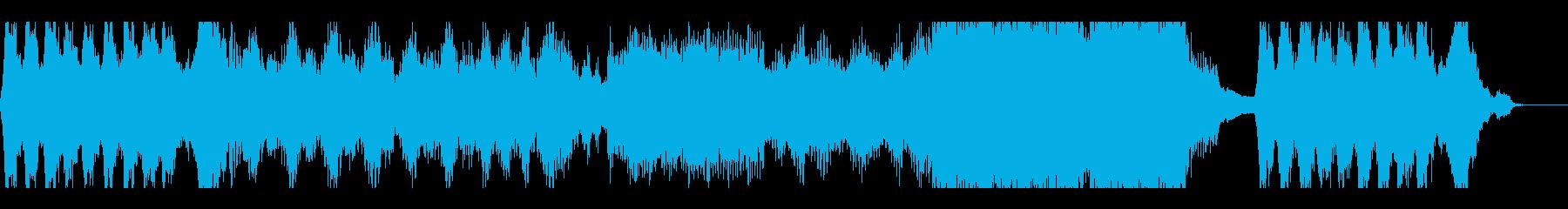 幻想的なホラー用の音楽の再生済みの波形