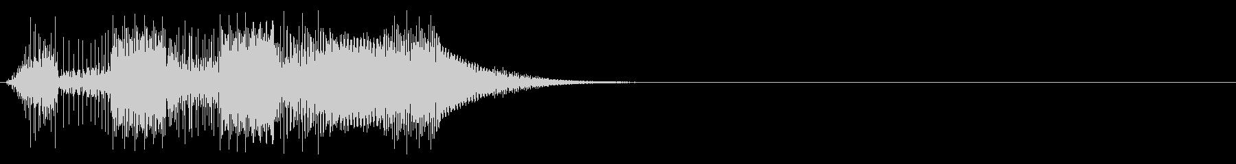 ボタン押下や決定音_キュピピ!の未再生の波形