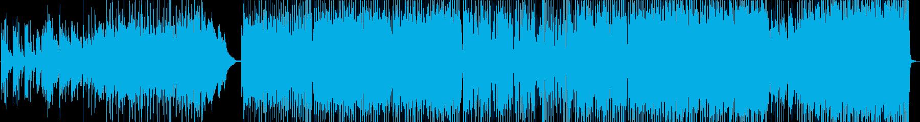 水しぶきをピアノメインで表現したインストの再生済みの波形