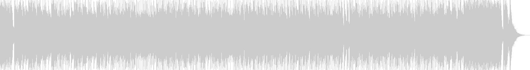 ハイテンション!和風ロック  琴、三味線の未再生の波形