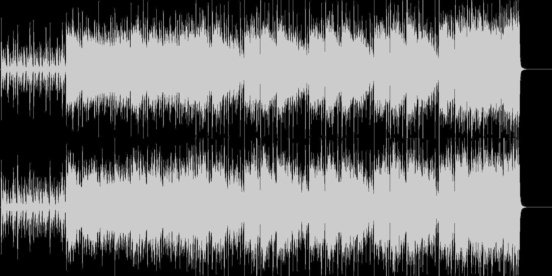 クールなオープニング!ピアノとバイオリンの未再生の波形