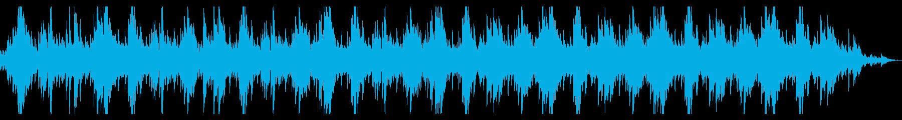 温かみのあるシネマティックなピアノの再生済みの波形