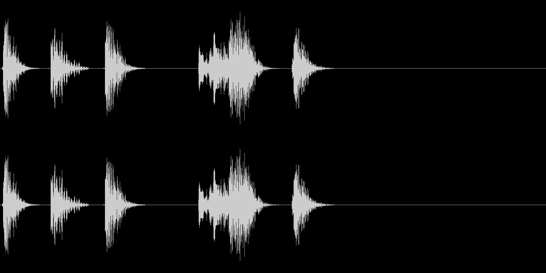 ロボットの音声などに 4の未再生の波形