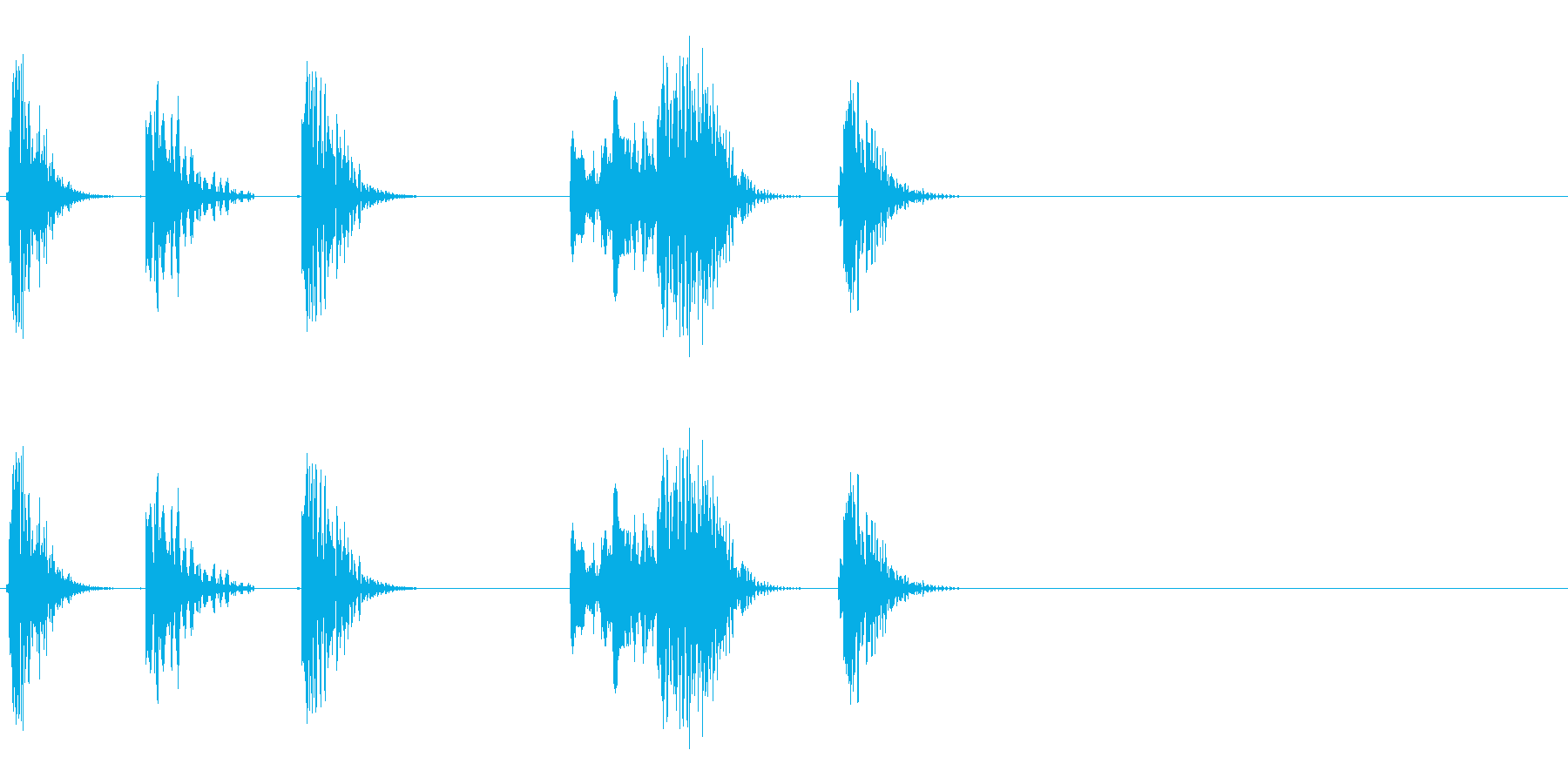 ロボットの音声などに 4の再生済みの波形