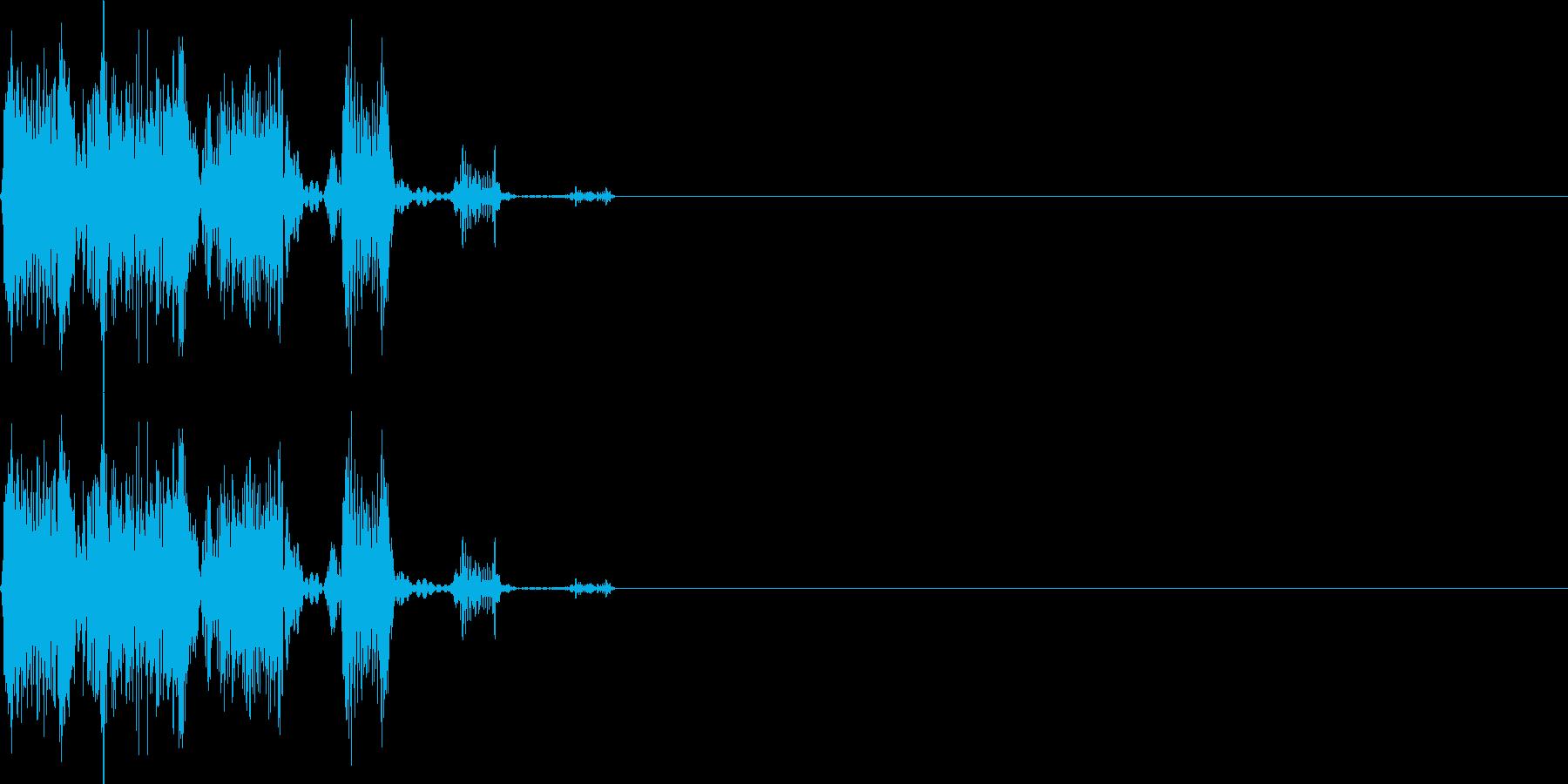 シュピッ(ダメージ_攻撃_逃げる)の再生済みの波形