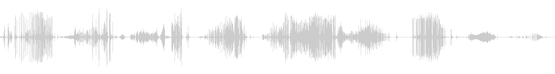 ロング、ラスパイツイストバルーンクリークの未再生の波形