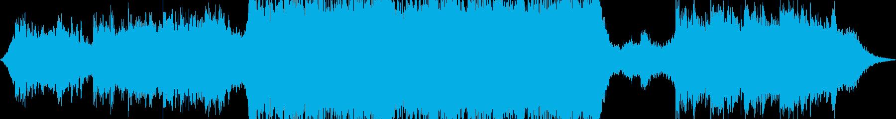 アンビエントでインスピレーションな曲の再生済みの波形