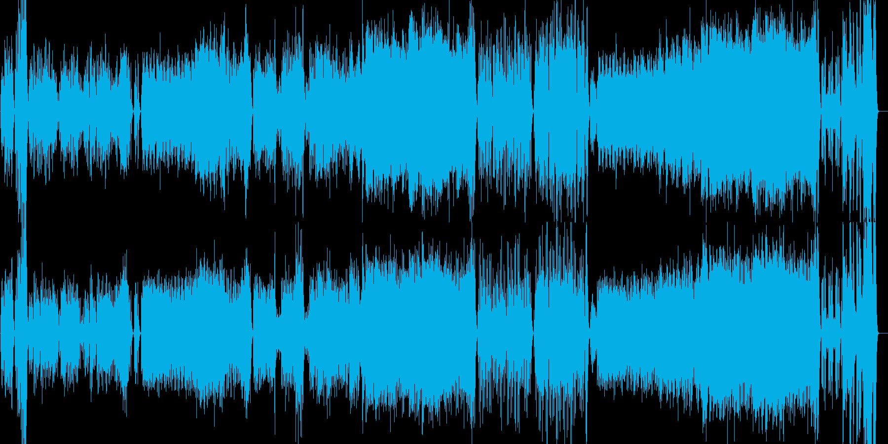 ゆったりとして上品なオーケストラワルツの再生済みの波形