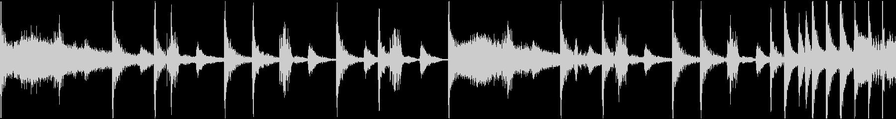 使い勝手のいいリズムループ音源の未再生の波形