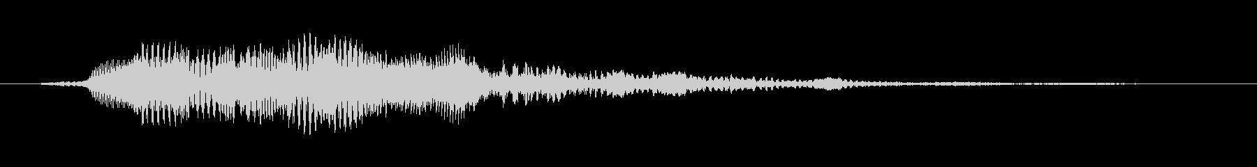決定/ボタン押下音(アプリ向け)の未再生の波形