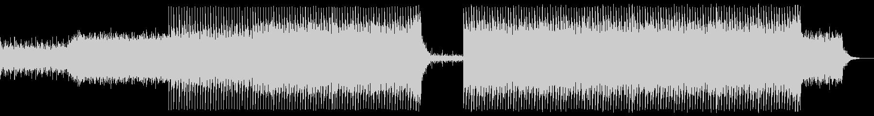 激しいシネマティックロックの未再生の波形