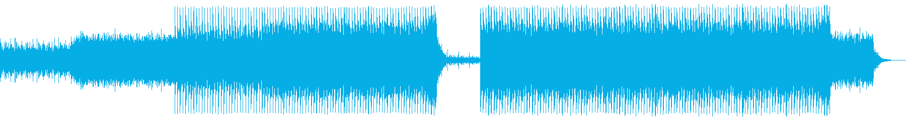 激しいシネマティックロックの再生済みの波形