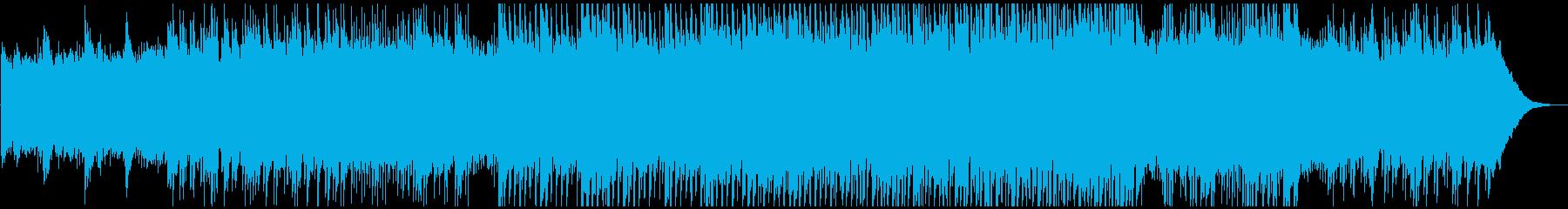 壮大ピアノとギター企業向迫力ロックの太鼓の再生済みの波形