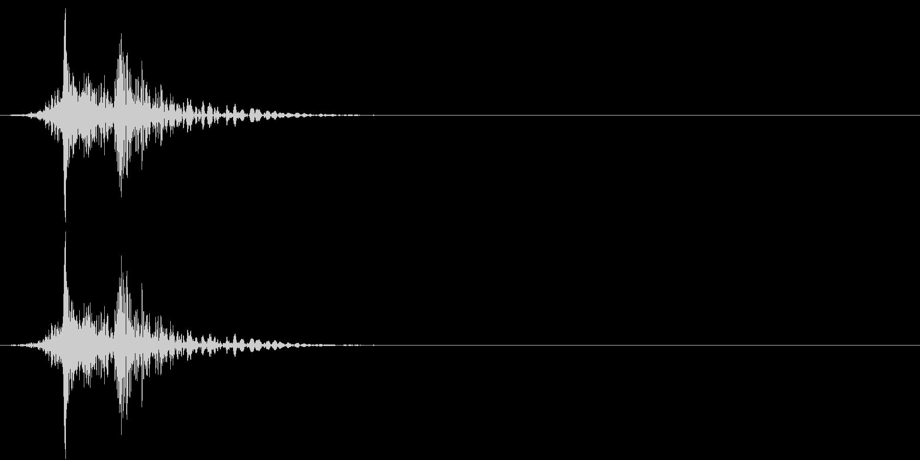 【生録音】車をロックする音 リモコンキーの未再生の波形