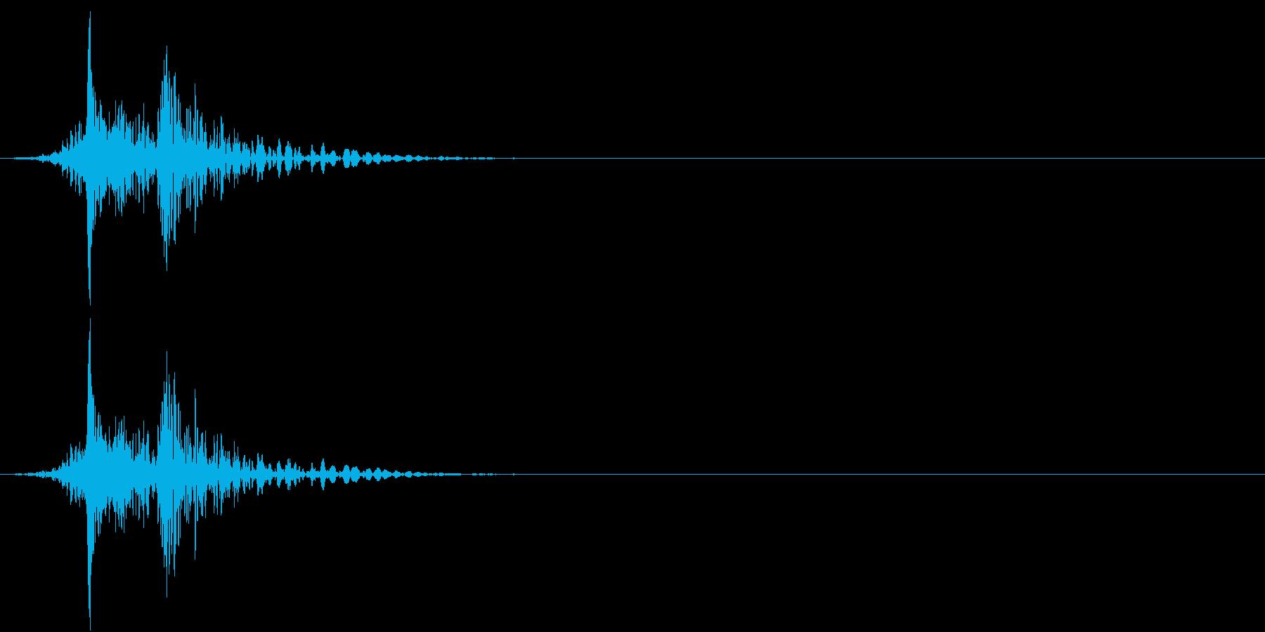 【生録音】車をロックする音 リモコンキーの再生済みの波形