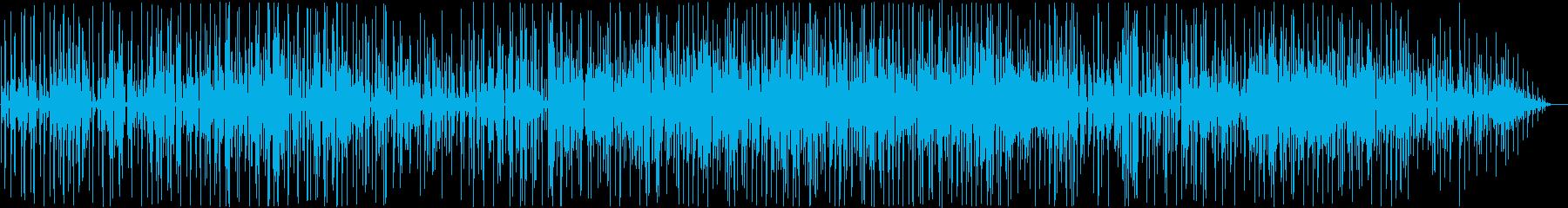 知的な緊張感_サイバーで変則的なテクノの再生済みの波形